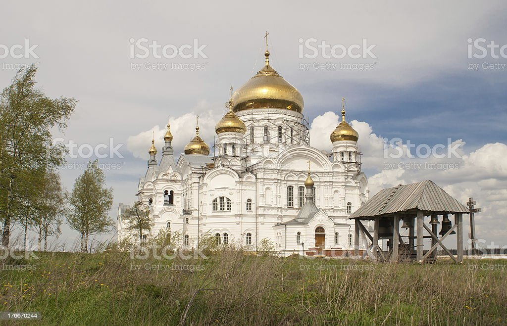 Russian orthodox church (Perm, Russia) royalty-free stock photo