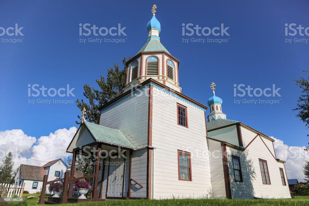 Église orthodoxe russe la Transfiguration de notre Seigneur et le cimetière - Photo