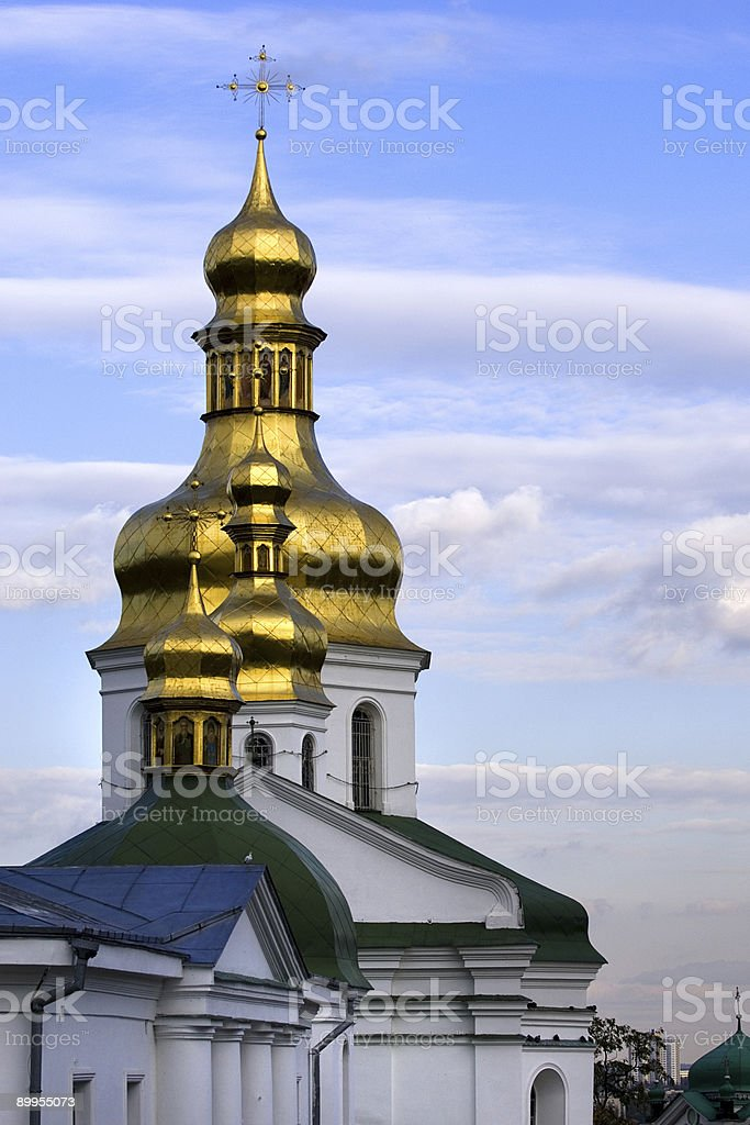 Russian Orthodox Golden Domes royalty-free stock photo