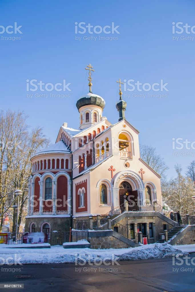 Russian orthodoxe church - Marianske Lazne (Marienbad) stock photo