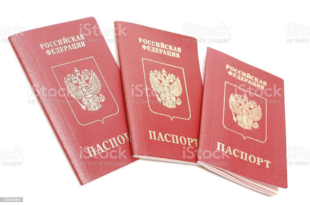 Russian passport royalty-free stock photo