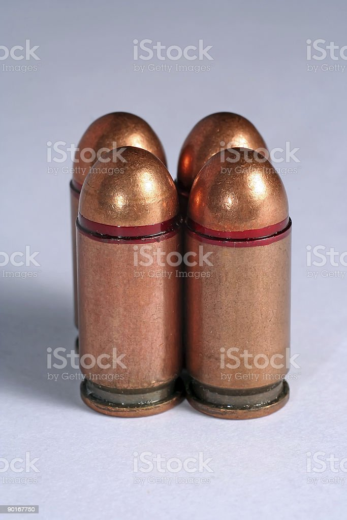 Russian pistol 9mm rounds stock photo