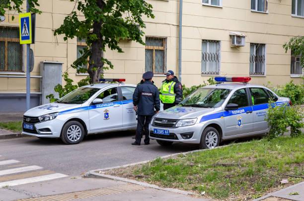 Russische Polizei Streifenwagen – Foto