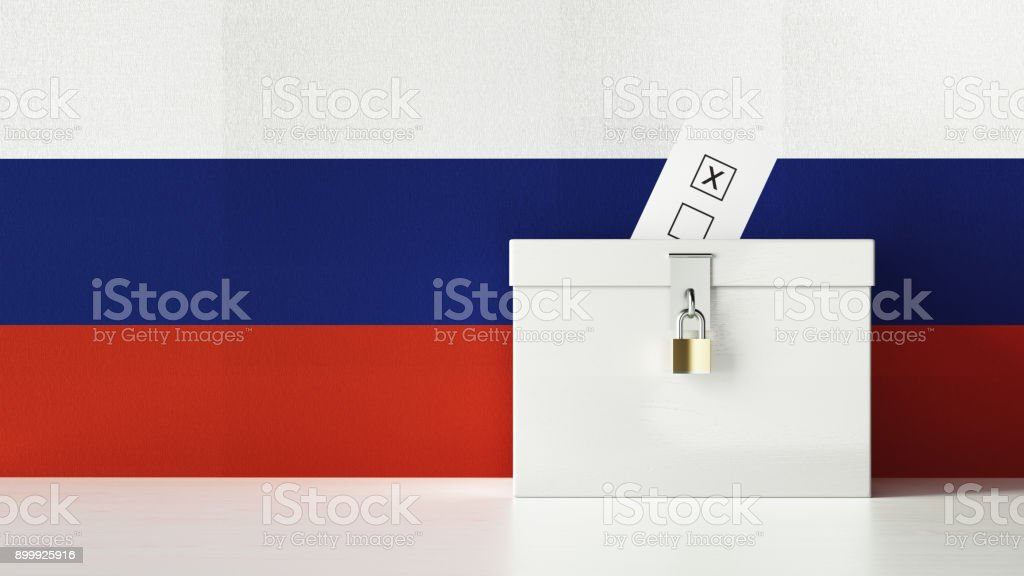 Russian Presidential and Legislative Elections Concept stock photo