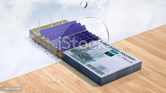 Wind Turbine, Solar Energy, Loan, Banking, Russian Rubles