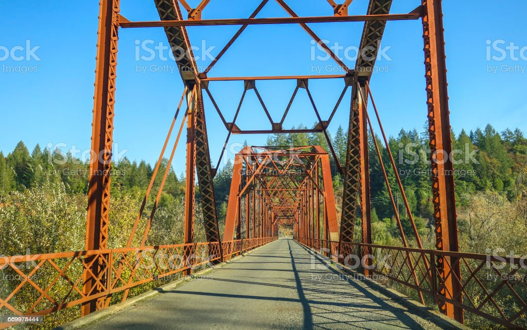 Russian River bridge stock photo
