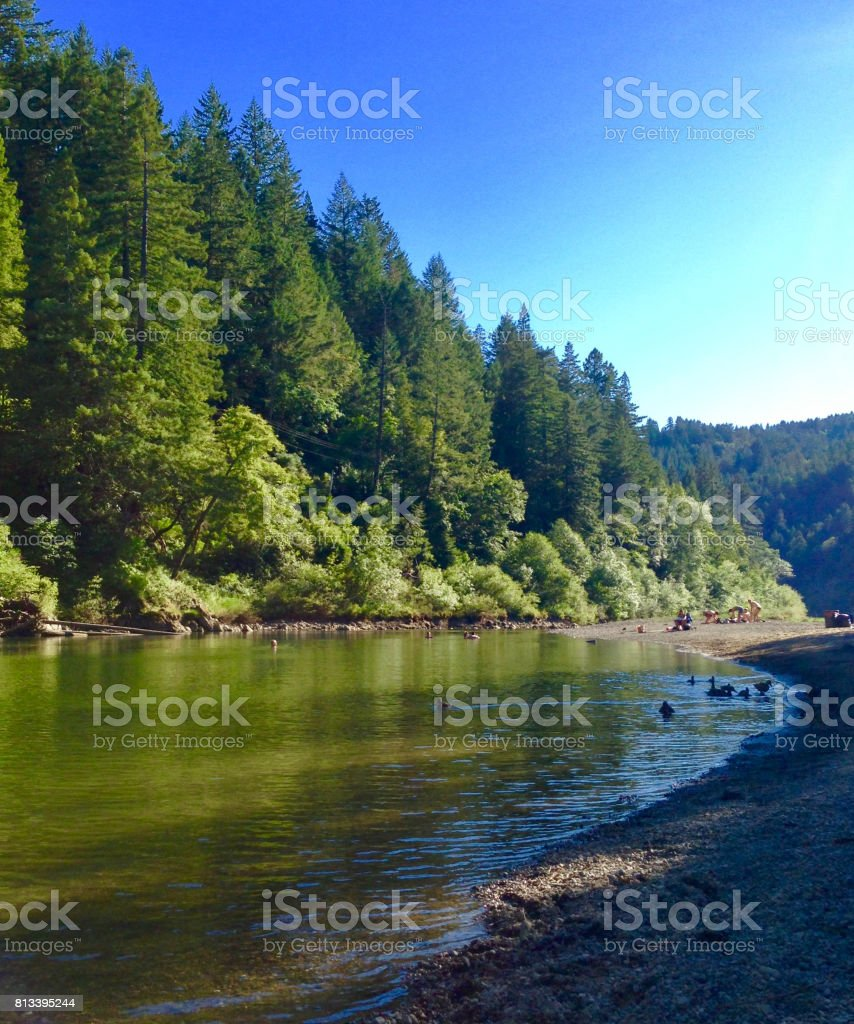Russian River stock photo