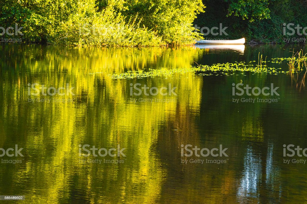 Russian River reflection stock photo