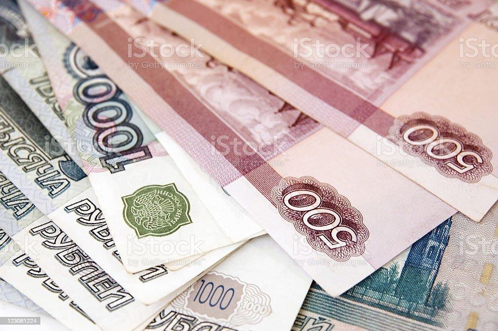 Ruso roubles fondo - foto de stock