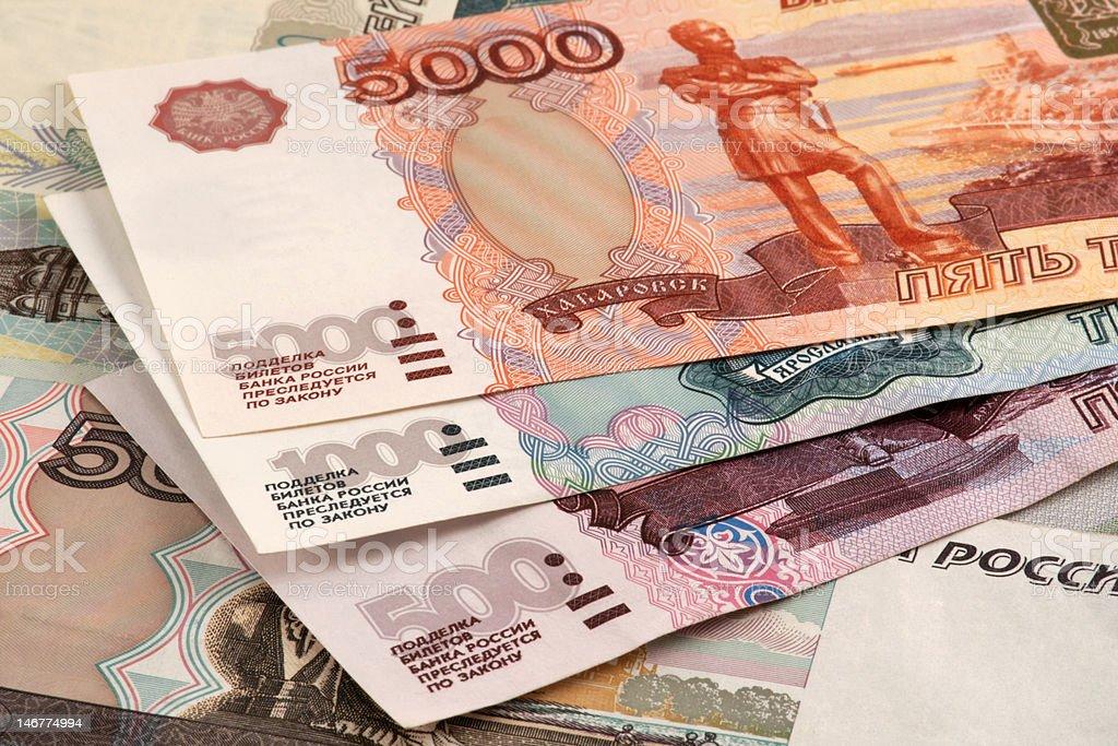 roubles ruso - foto de stock