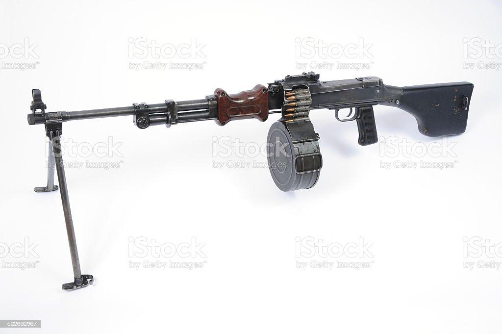 Russian RPD machine gun stock photo