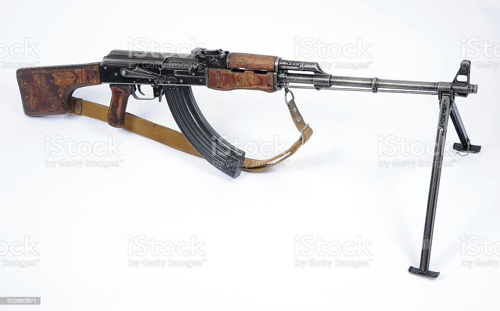 Russian RPK machine gun stock photo