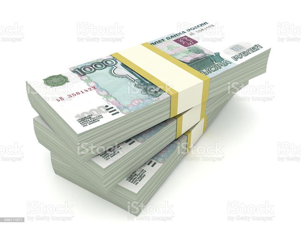 Rublo ruso - foto de stock