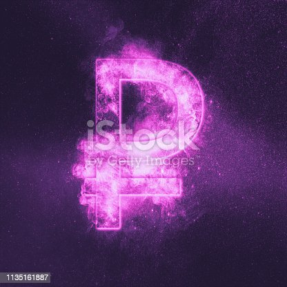 1135149903 istock photo Russian Ruble symbol. Ruble Sign. Monetary currency symbol. Abstract night sky background. 1135161887