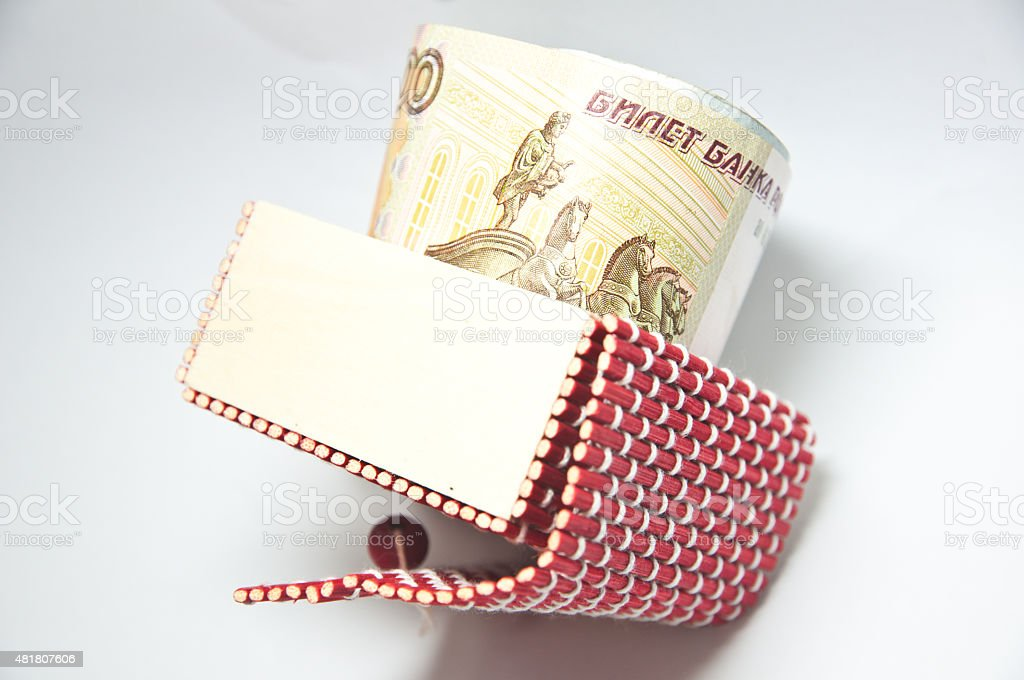 Russian Rubles Banknotes In Red Box Stock Photo More Pictures Of