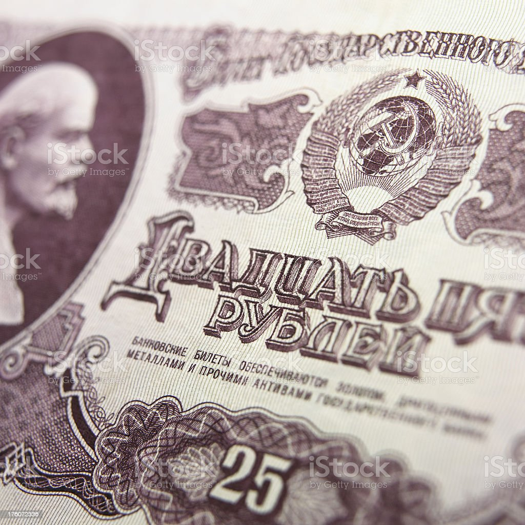 Russian rubles royalty-free stock photo