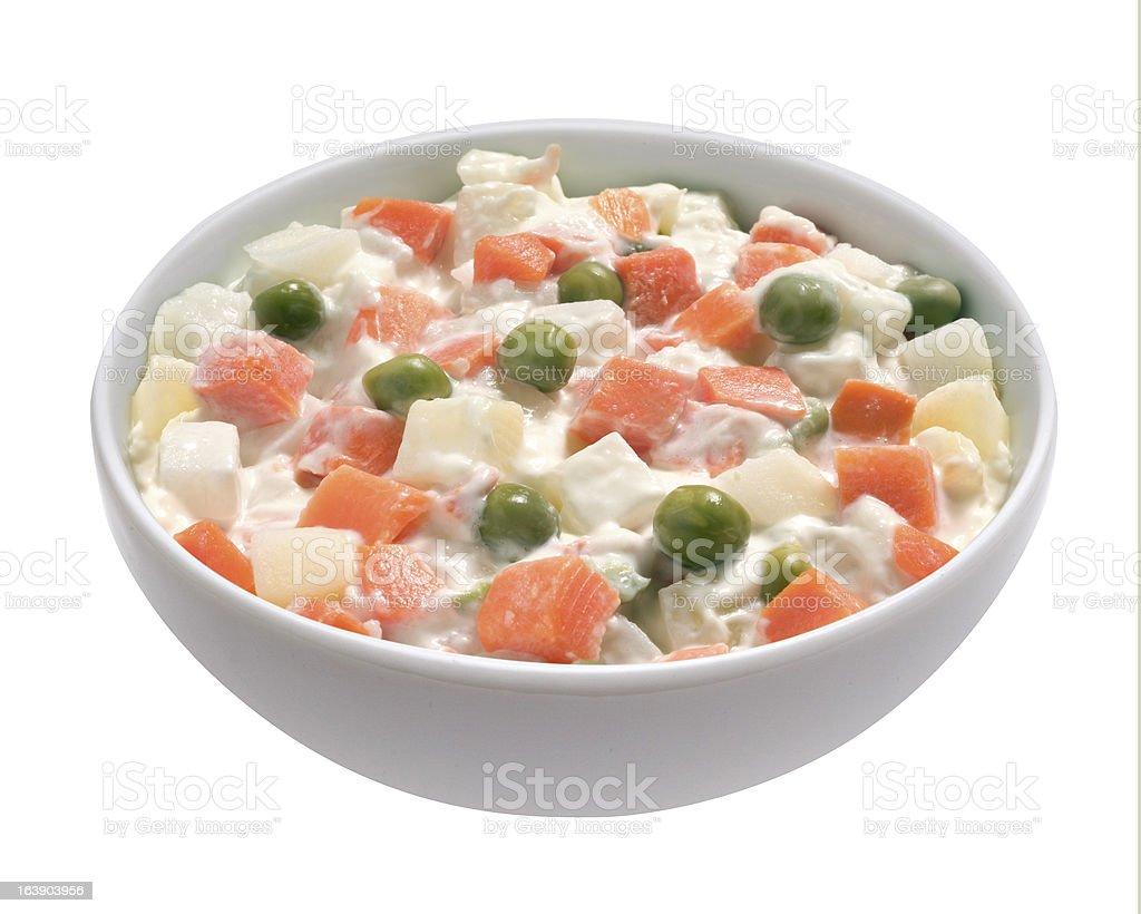 russian salad royalty-free stock photo