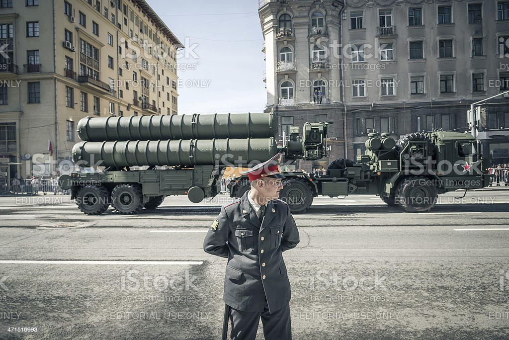Russian Soldier Victory Day 9th May Moscow Russia royalty-free stock photo