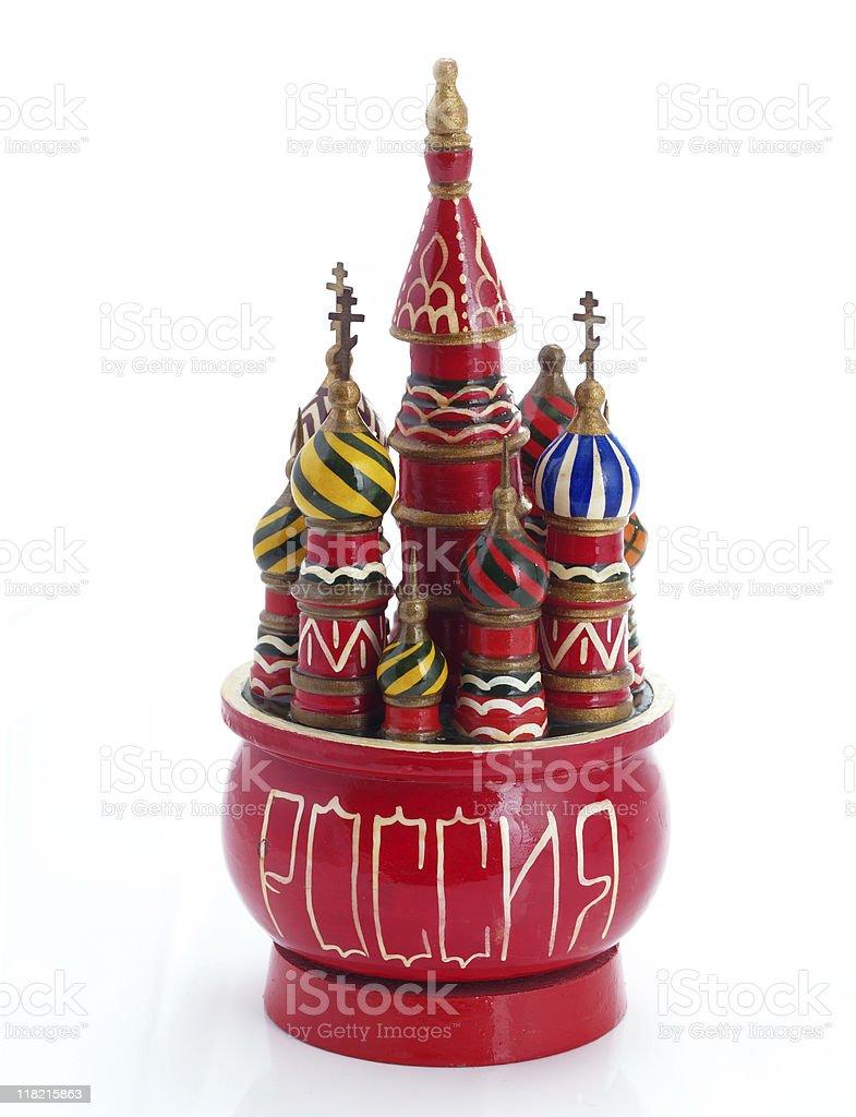 Russian souvenir. Music box. stock photo