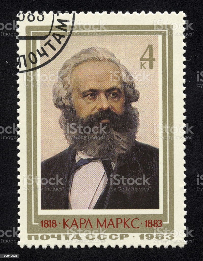 Russian Stamp. stock photo