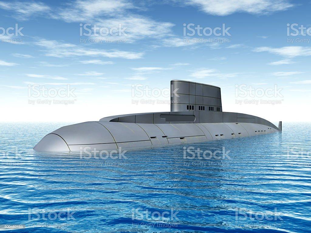 Russian Submarine stock photo