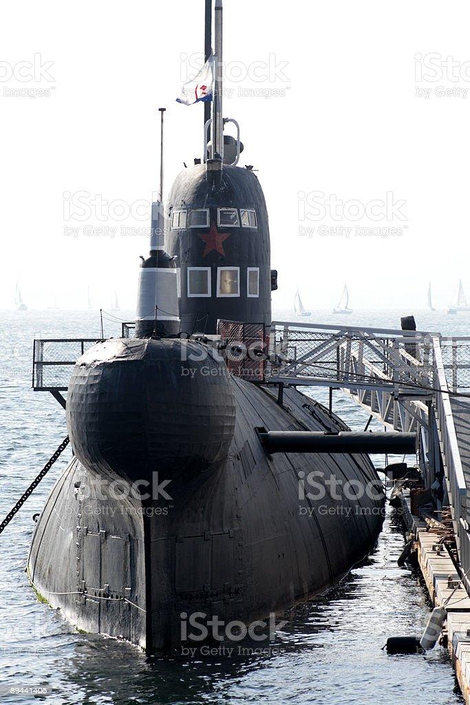 Russian Submarine royaltyfri bildbanksbilder