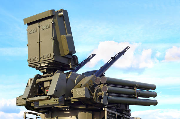 Russian  tactical anti-aircraft  system Self propelled ground-based combined short to medium range surface-to-air missile and anti-aircraft artillery weapon antiaircraft stock pictures, royalty-free photos & images