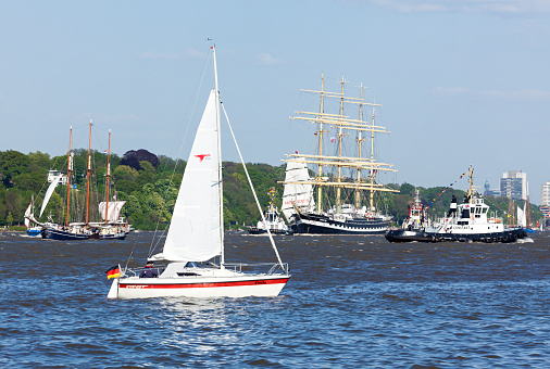 Russian tall ship Kruzenstern at Hamburg