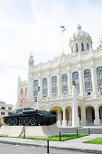 Russian tank near museum of revolution, Havana, Cuba