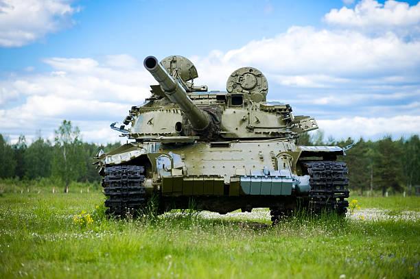Russian tank stock photo