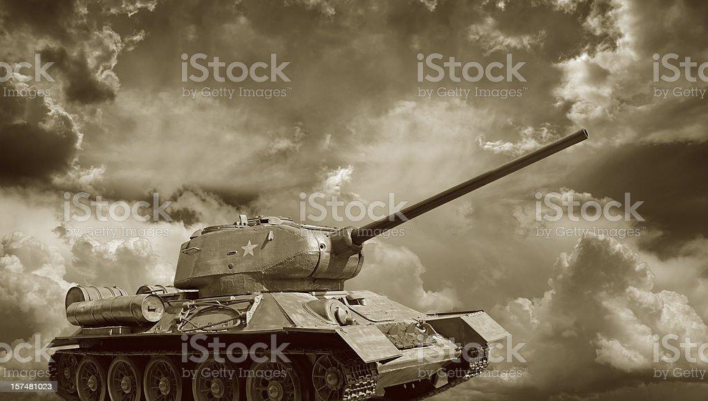 Russian Tank T34 royalty-free stock photo