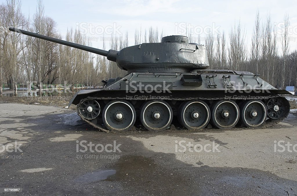 Russian tank T-34 royalty-free stock photo