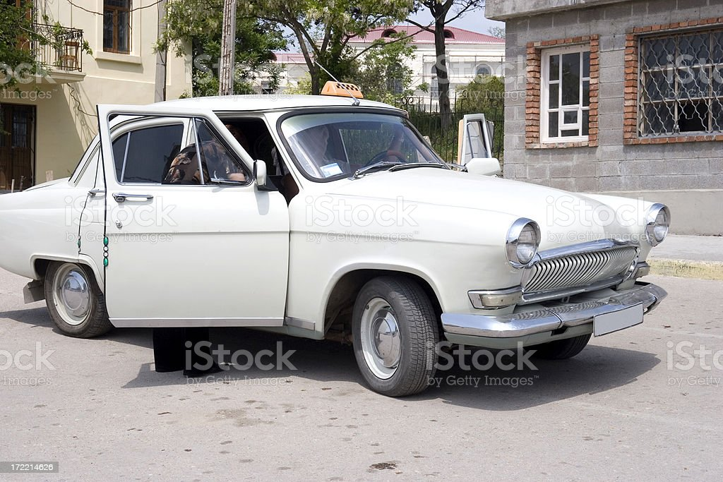 Russian taxi stock photo