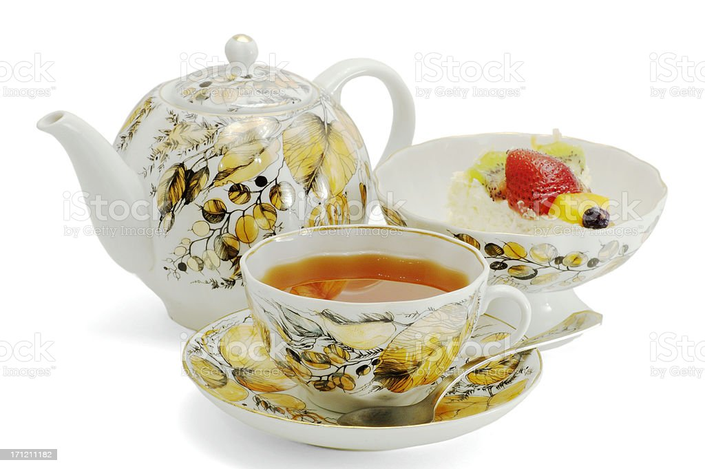 Russian Tea Set stock photo