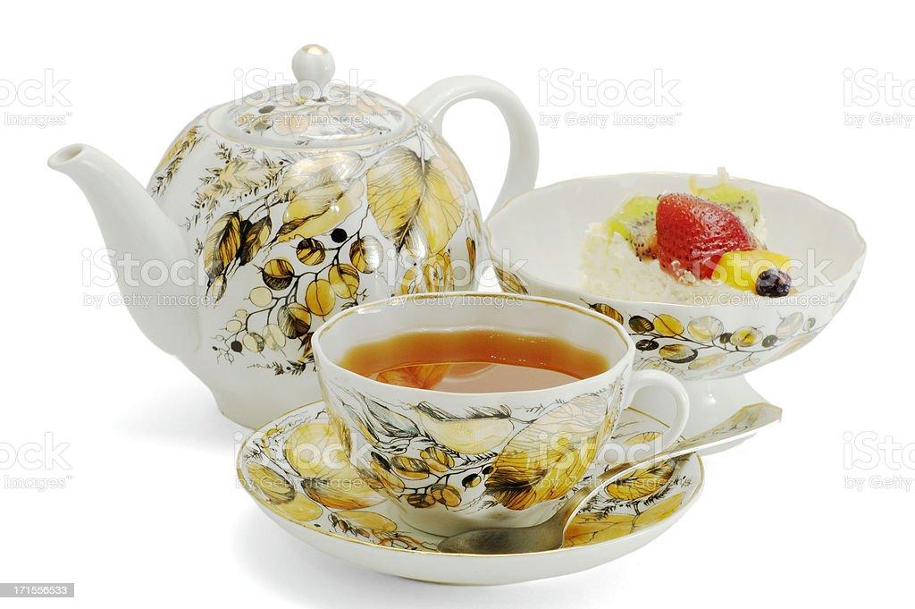 Russian Tea Set royalty-free stock photo