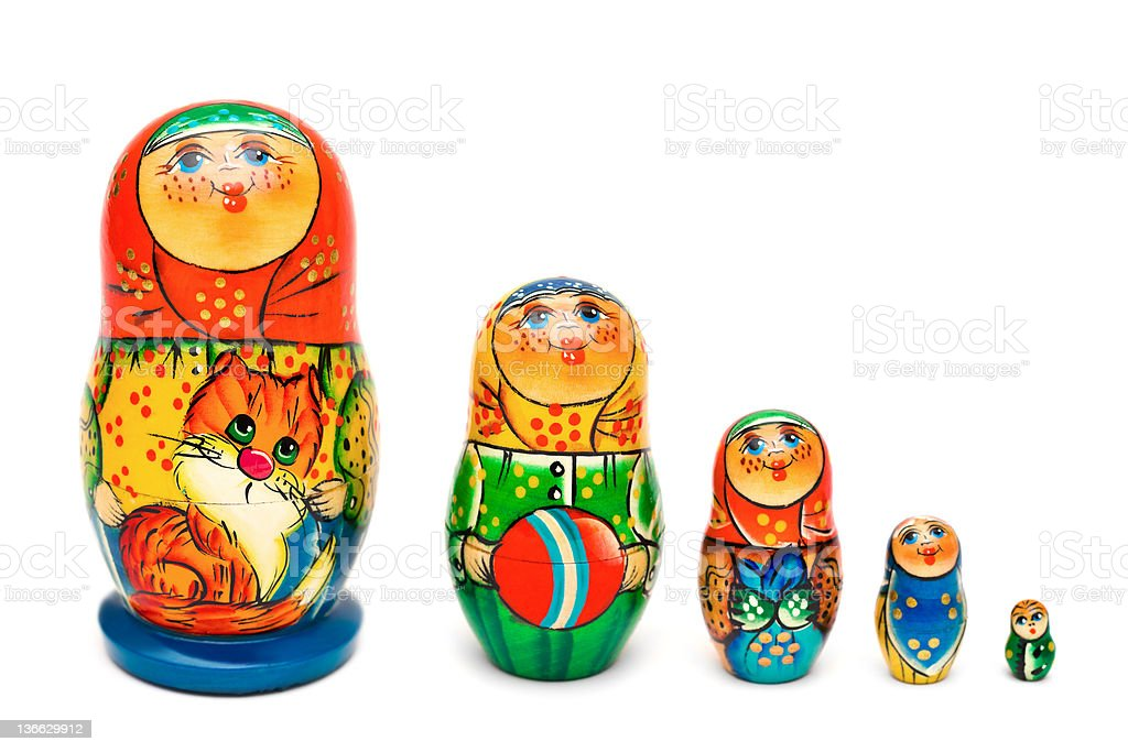 Russian toy matrioska royalty-free stock photo