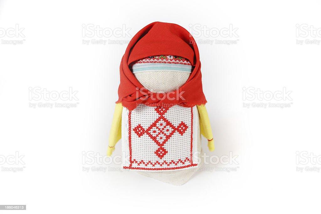Russian traditional doll Krupenichka royalty-free stock photo