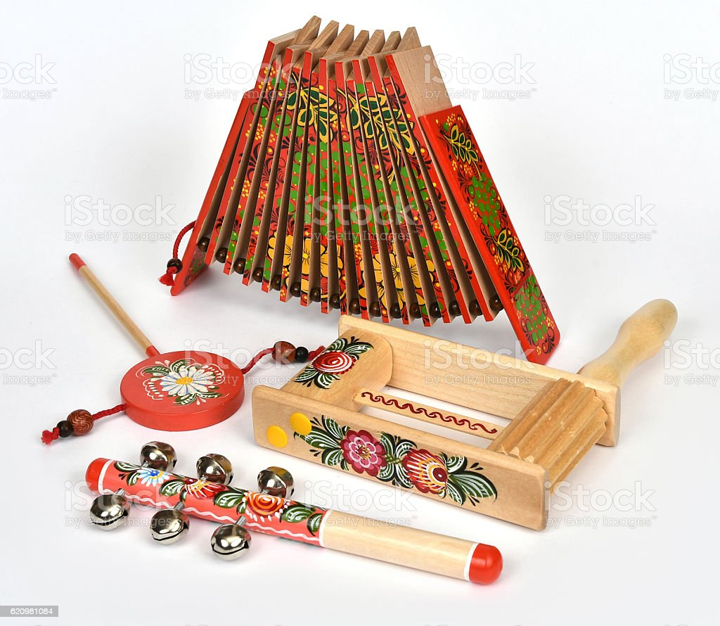 Russian traditional national toy foto royalty-free
