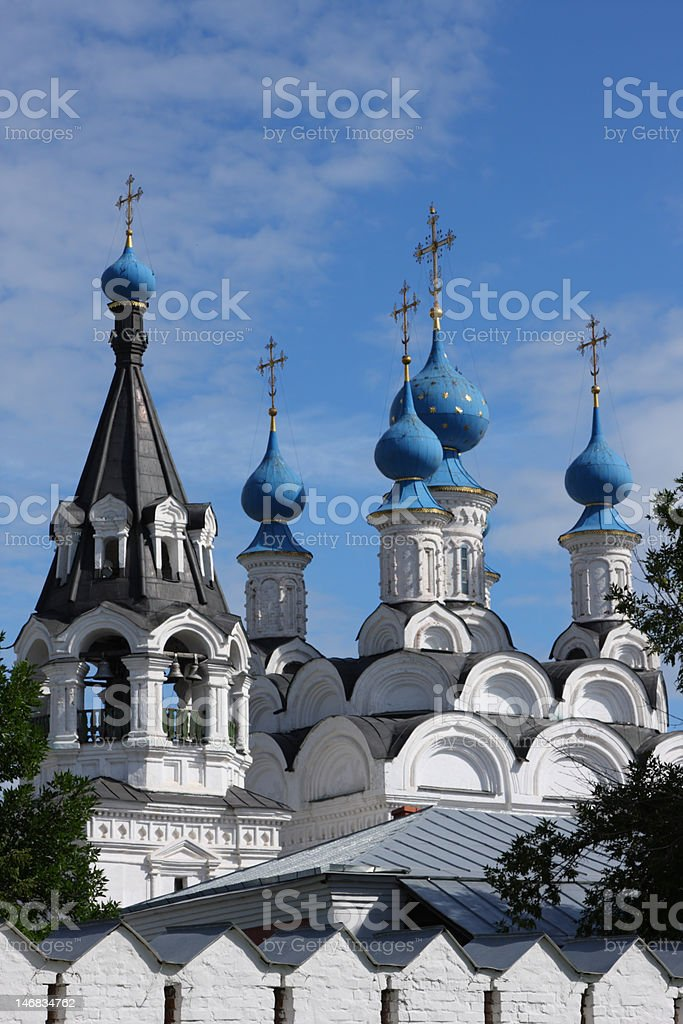 Russian traditonal medieval monastery royalty-free stock photo