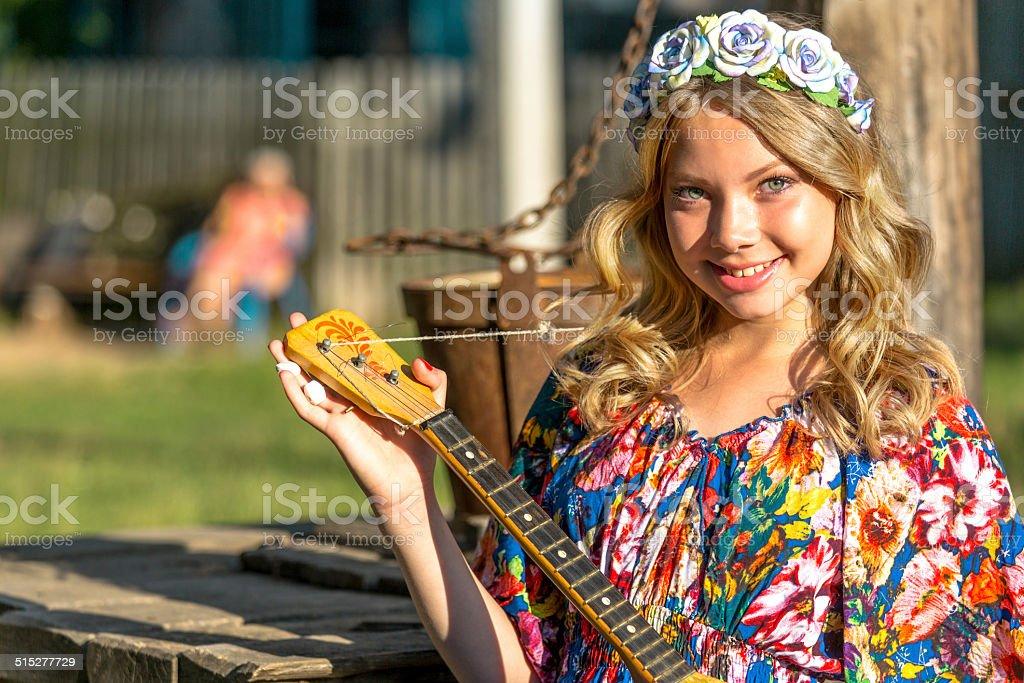 Russische Dorf Mädchen – Foto