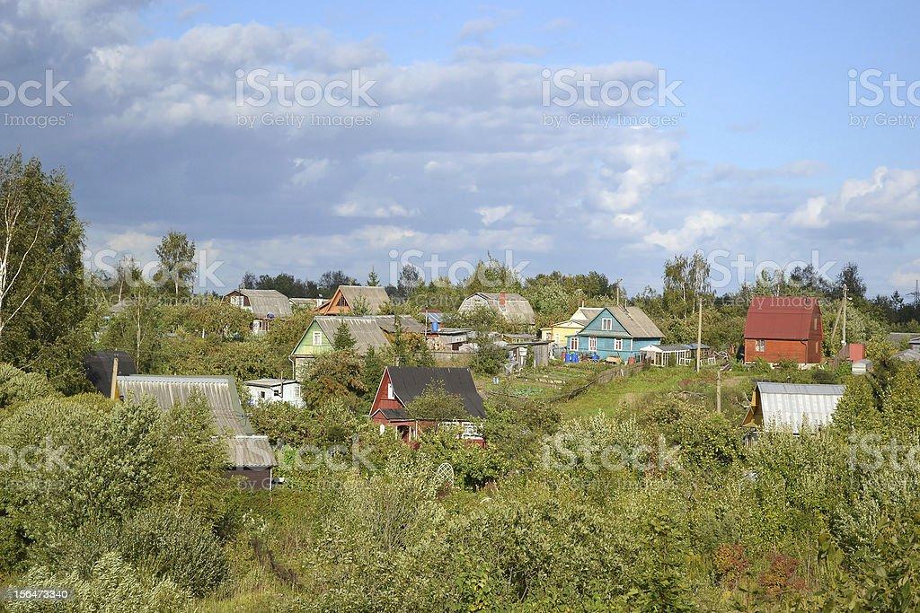 Russian village royalty-free stock photo