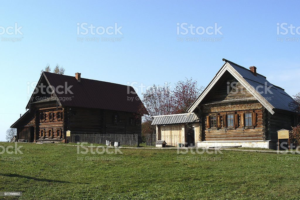 Russian village royalty-free stock photo