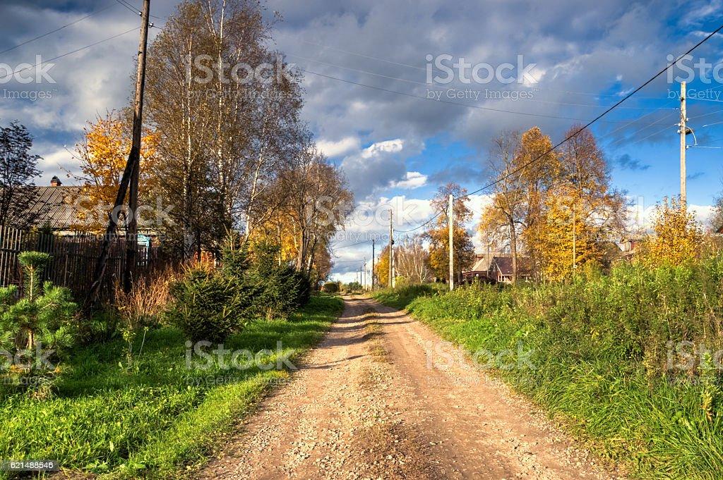 Russian village street road photo libre de droits