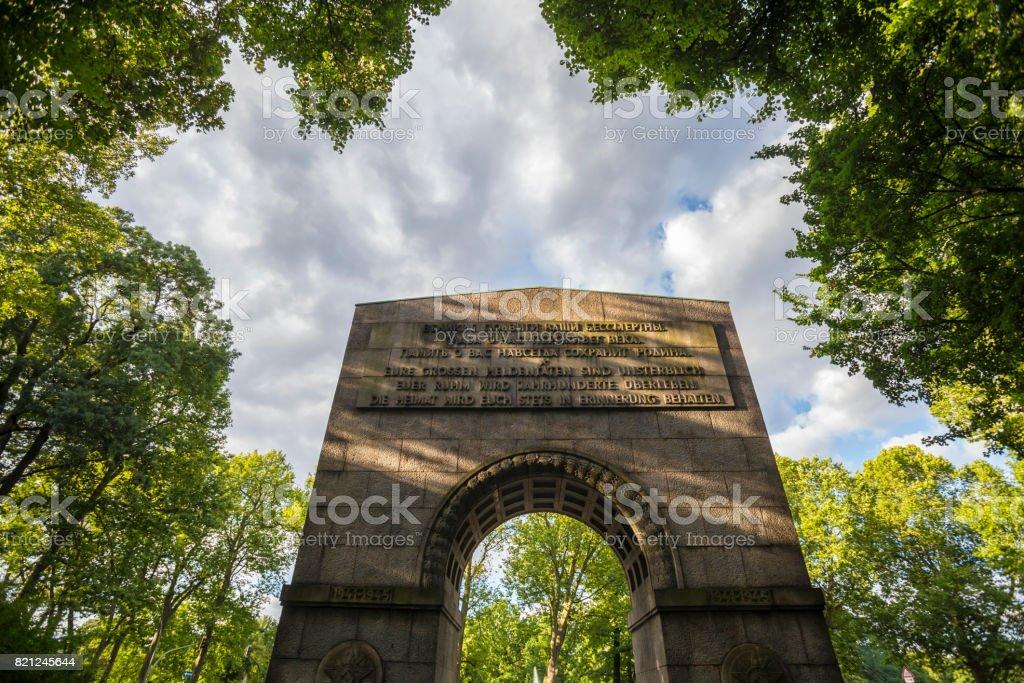 russian war memorial in treptow berlin germany stock photo