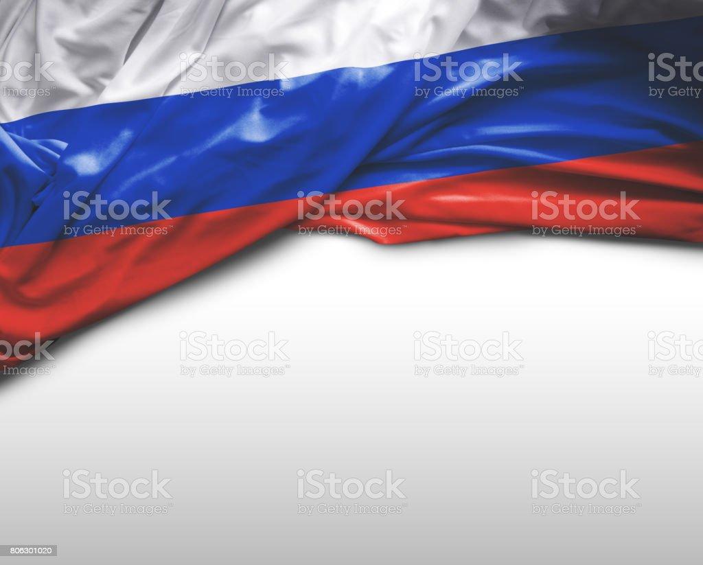 Bandeira de ondulação russa - foto de acervo
