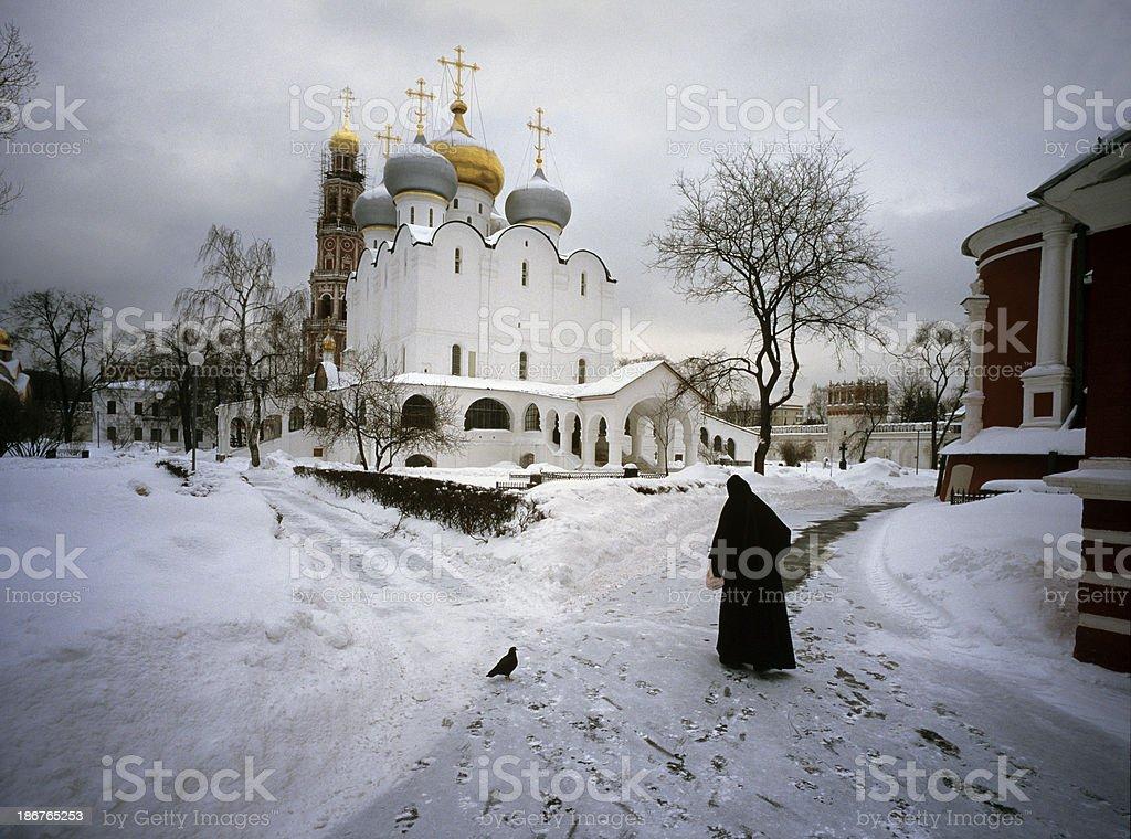 Russian Winter scene royalty-free stock photo