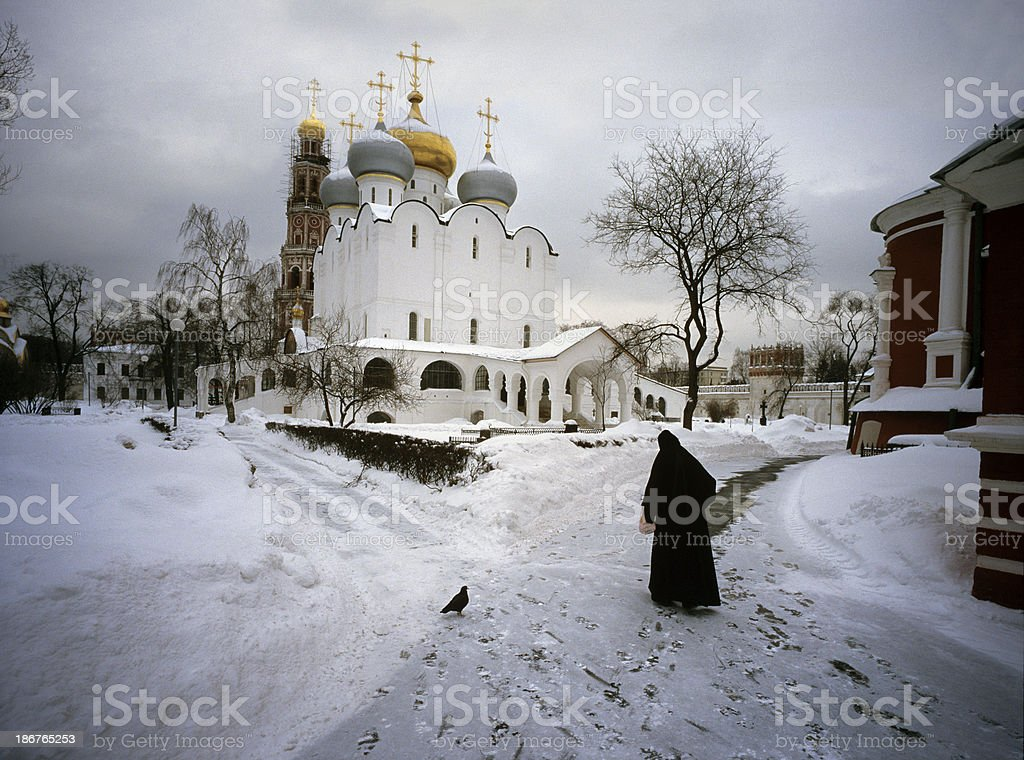 Russian Winter scene stock photo