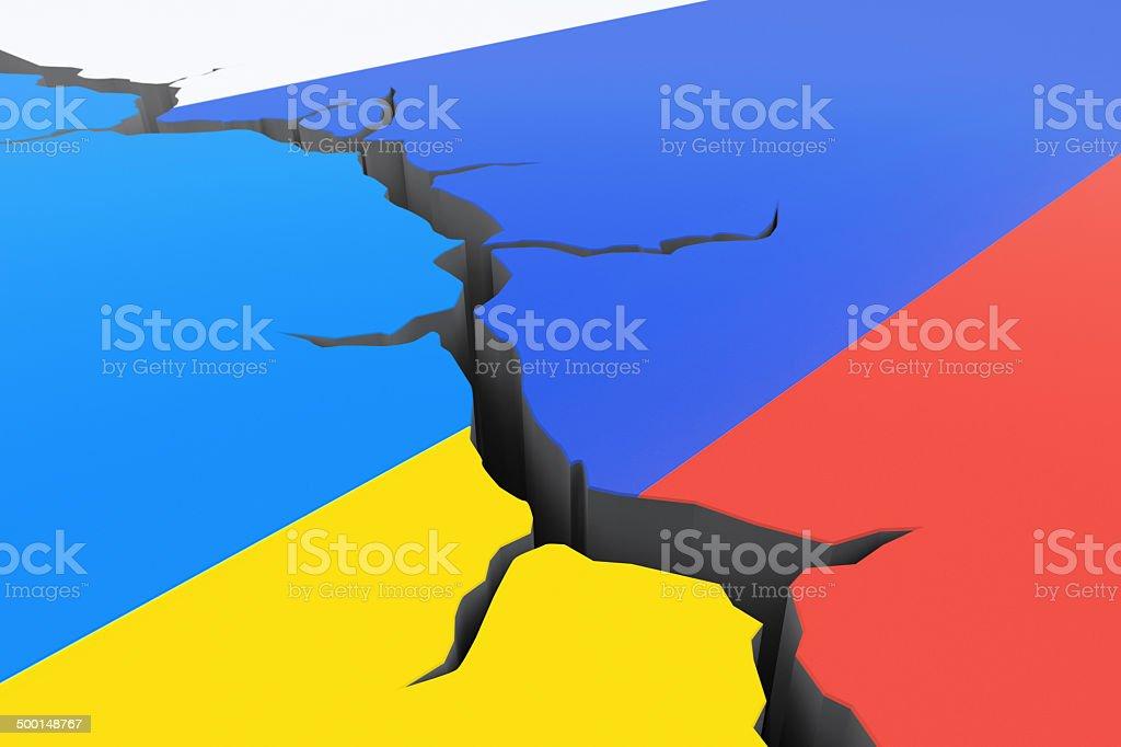 Russia-Ukraine crisis stock photo