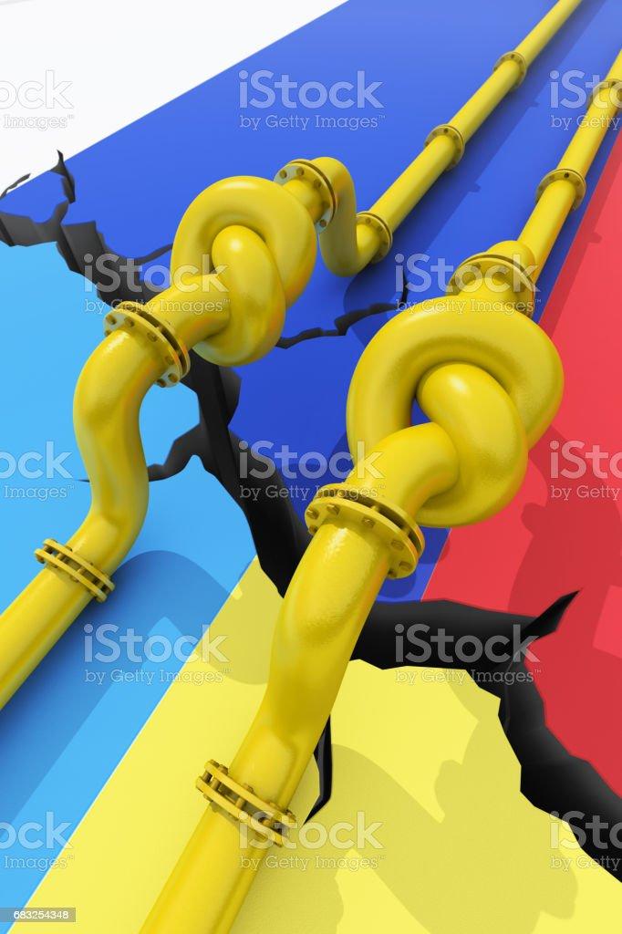 Russia-Ukraine gas crisis foto de stock royalty-free