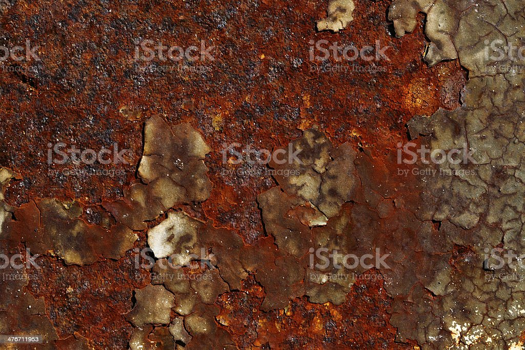Rust and Cracked Paint royalty-free stock photo